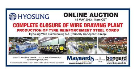 Wire Machine Dealer and Industrial Auctioneer Join Forces to Sell Hyosung Wire Drawing Plant Online